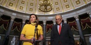 House Speaker Nancy Pelosi and Senate Minority Leader Chuck Schumer. Chip Somodevilla/Getty Images