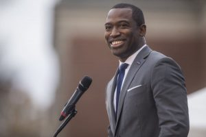 Richmond, Virginia Mayor Levar Stoney speaks on December 10, 2019 in Richmond, Virginia. Zach Gibson/Getty Images