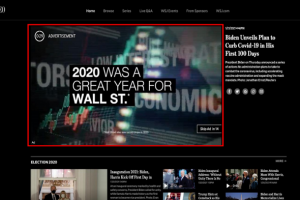 The PSA running on the Wall Street Journal website. WSJ has reported click rates for the ad at 31%, a level of engagement nearly 3 times the average for ads run on their site. The PSA is hooking people and leading them to dig into the idea of UBI.