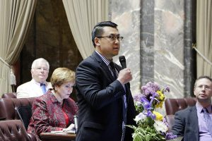 Washington state Sen. Joe Nguyen has proposed conducting a two-year test of a universal basic income program, in which 500 adults statewide would be given $500 a month.(Rachel La Corte/AP)