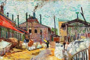 The Factory (1887) by Vincent Van Gogh. Original from the Barnes Foundation. Digitally enhanced by rawpixel.