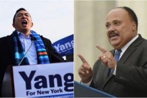 Andrew Yang and Martin Luther King III