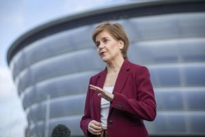 Nicola Sturgeon revealed the SNP's manifesto would set out steps towards introducing a universal basic income.