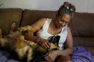 Susie Garza, a participant in Stockton's basic-income trial, used some of the extra cash to finance her dog's surgery.