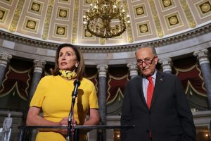 House Speaker Nancy Pelosi and Senate Minority Leader Chuck Schumer. Chip Somodevilla/Getty Images