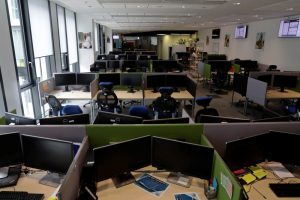 An empty office amid the pandemic. Reuters