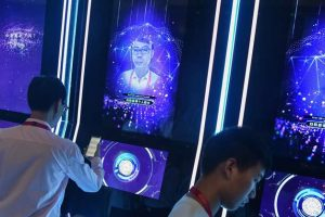 Provided by CNBC. Guests have their faces scanned at the World Artificial Intelligence Conference in Shanghai in August, 2019.