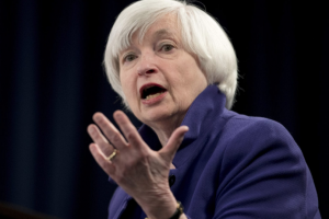 Then Federal Reserve Chair Janet Yellen speaks during a news conference following the Federal Open Market Committee meeting in Washington on Dec. 13, 2017. (AP Photo/Carolyn Kaster, File)