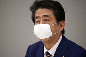 Prime Minister Shinzo Abe said the state of emergency will last until May 6, adding that the goal is for residents to limit contact with others by up to 80%. Franck Robichon/AP