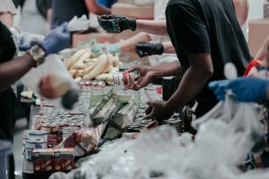 Americas' financial desperation can be seen in the soaring demand for food assistance. Photo by Joel Muniz.