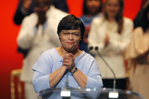 LaToya Cantrell, seen here in 2018, is one of five southern mayors who have agreed support local guaranteed income programs. (AP Photo/Gerald Herbert, File)