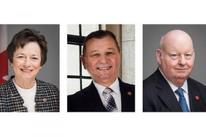 From left, Diane Griffin, Brian Francis and Mike Duffy are Senators for Prince Edward Island.