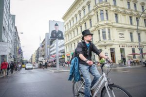 Checkpoint Charlie in Berlin, Germany. Gregor Fischer/DPA/Getty Images