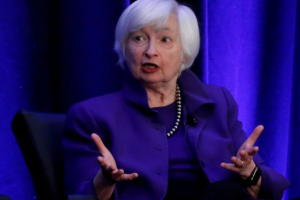 FILE PHOTO: Former Federal Reserve Chairman Janet Yellen speaks during a panel discussion at the American Economic Association/Allied Social Science Association (ASSA) 2019 meeting in Atlanta, Georgia, U.S., January 4, 2019. REUTERS/Christopher Aluka Berry/File Photo